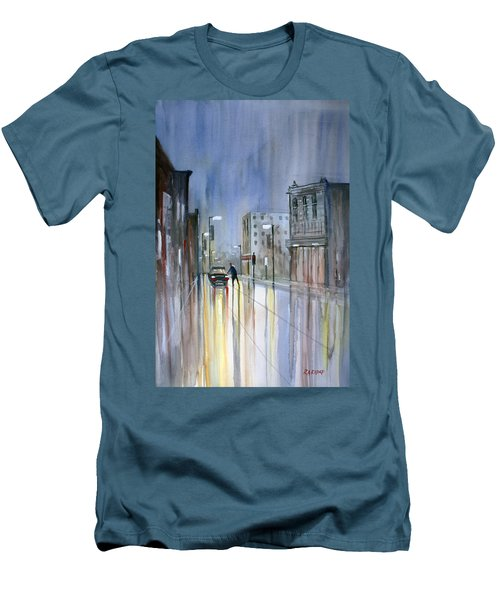 Another Rainy Night Men's T-Shirt (Athletic Fit)