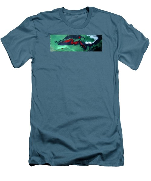 Men's T-Shirt (Slim Fit) featuring the painting Another Time, Another Place by Mary Kay Holladay