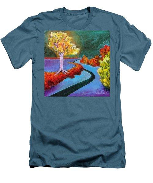 Golden Aura Men's T-Shirt (Slim Fit) by Elizabeth Fontaine-Barr