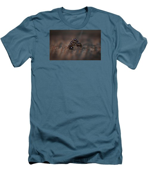 Ant Fight Men's T-Shirt (Slim Fit) by Nikki McInnes