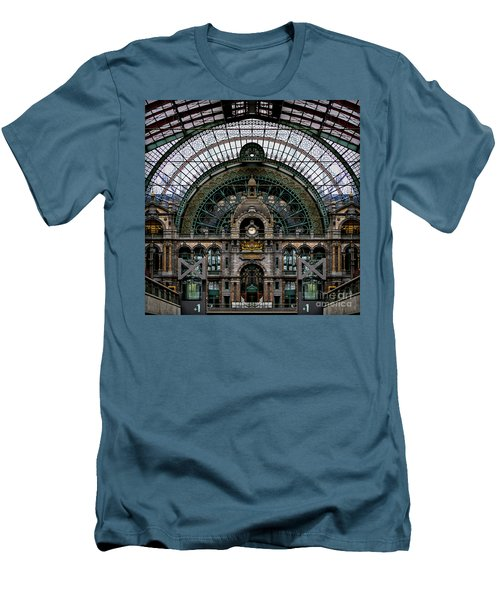 Antwerp Train Terminal Men's T-Shirt (Athletic Fit)