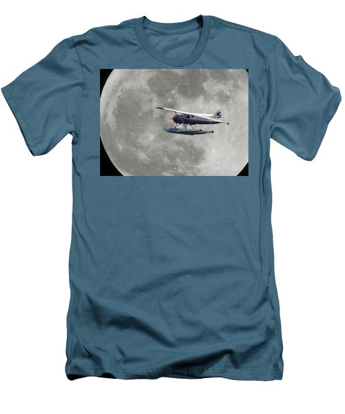 Aop And The Full Moon Men's T-Shirt (Slim Fit) by Mark Alan Perry