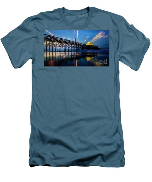 Apache Pier Men's T-Shirt (Slim Fit) by David Smith