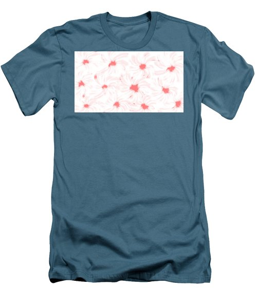 'apricot And White Flower Abstract 2' Men's T-Shirt (Athletic Fit)