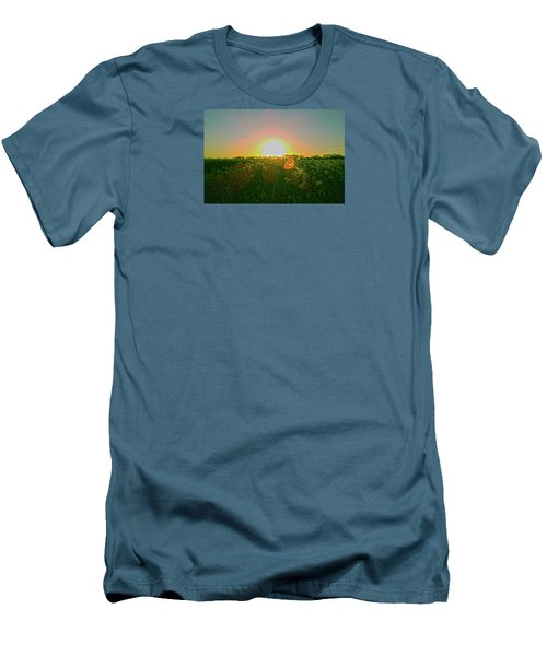 Men's T-Shirt (Athletic Fit) featuring the photograph April Sunrise by Anne Kotan