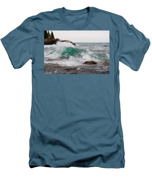 April Waves On Superior Men's T-Shirt (Athletic Fit)