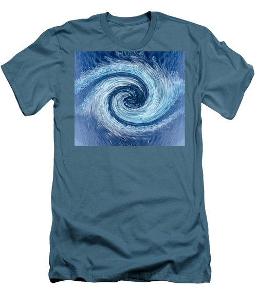 Aqua Swirl Men's T-Shirt (Athletic Fit)