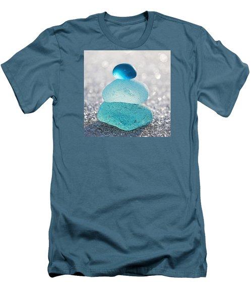Aquamarine Ice Men's T-Shirt (Slim Fit) by Barbara McMahon