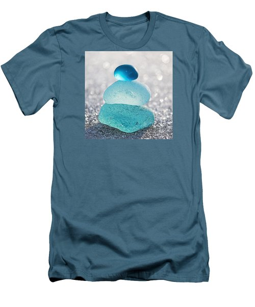 Aquamarine Ice Men's T-Shirt (Athletic Fit)