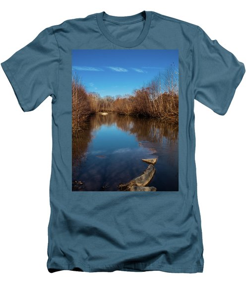 Men's T-Shirt (Slim Fit) featuring the photograph Ararat River by Randy Sylvia