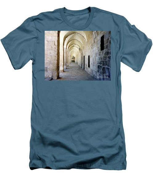 Arched Walkwayat A Church In Florence Italy Men's T-Shirt (Athletic Fit)