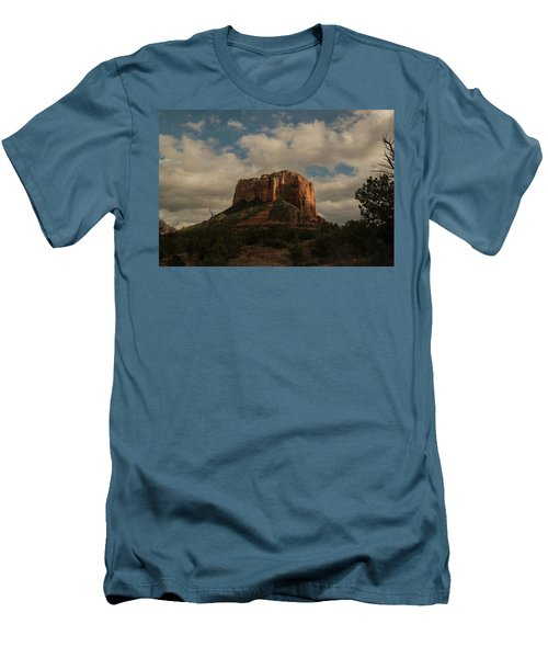 Men's T-Shirt (Slim Fit) featuring the photograph Arizona Red Rocks Sedona 0222 by David Haskett