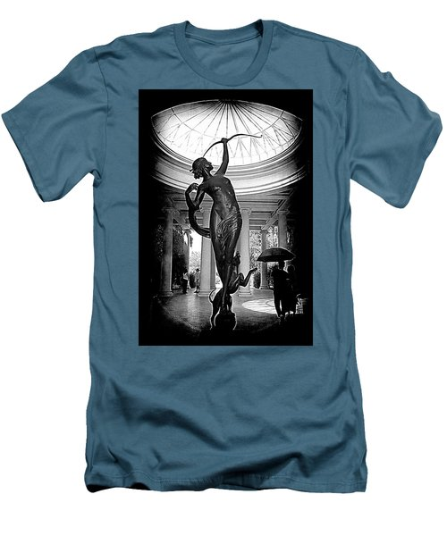 Men's T-Shirt (Slim Fit) featuring the photograph Artemis At Huntington Library by Lori Seaman