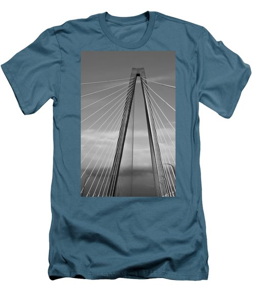 Arthur Ravenel Jr Bridge II Men's T-Shirt (Slim Fit) by DigiArt Diaries by Vicky B Fuller