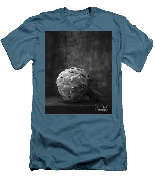 Artichoke Black And White Still Life Men's T-Shirt (Slim Fit) by Edward Fielding