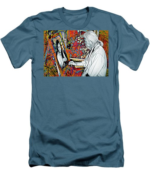 Artist In Abstract Men's T-Shirt (Slim Fit) by Ian Gledhill