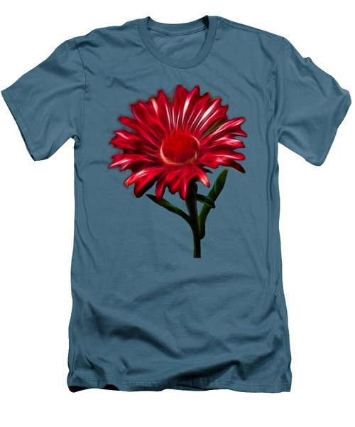 Red Daisy Men's T-Shirt (Slim Fit) by Shane Bechler