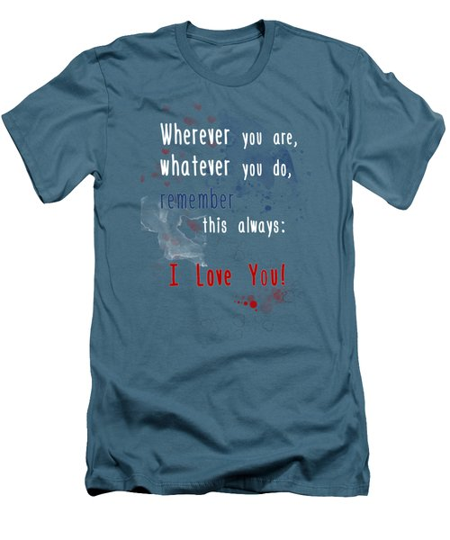 Wherever You Are Men's T-Shirt (Slim Fit) by Jutta Maria Pusl