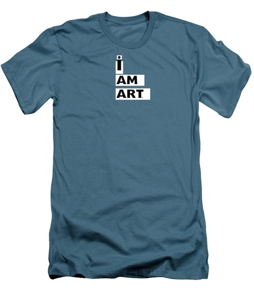 I Am Art Stripes- Design By Linda Woods Men's T-Shirt (Slim Fit) by Linda Woods