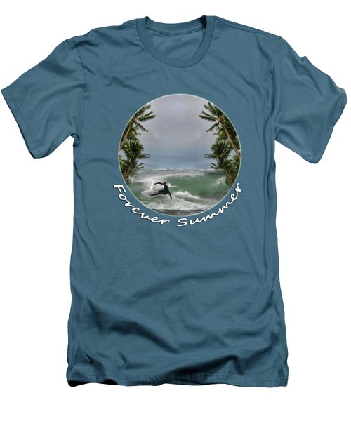 Men's T-Shirt (Slim Fit) featuring the photograph Forever Summer 2 by Linda Lees