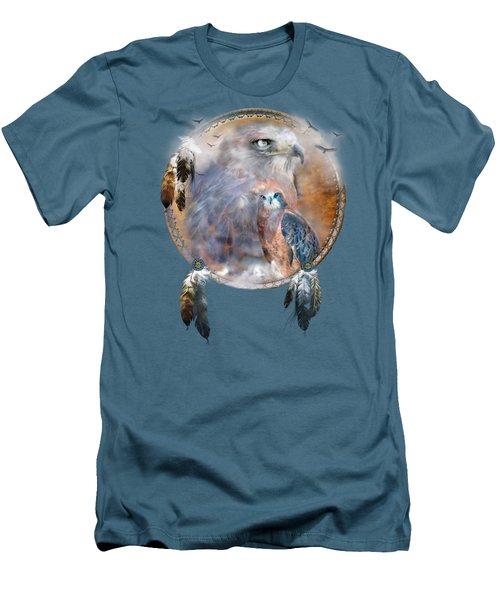 Dream Catcher - Hawk Spirit Men's T-Shirt (Slim Fit) by Carol Cavalaris