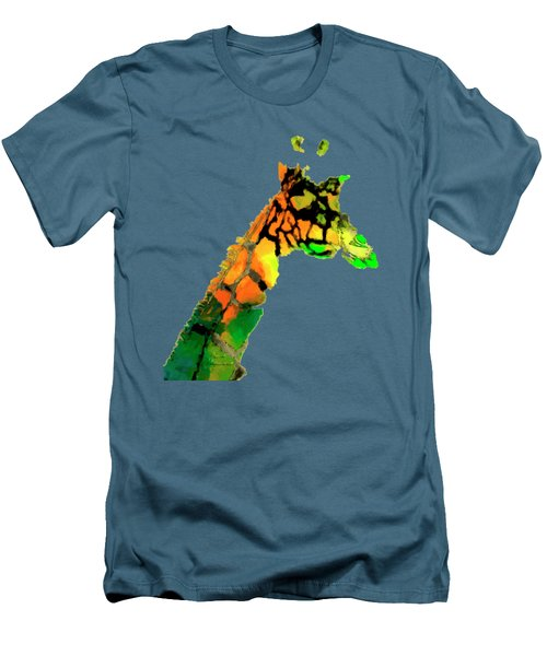Colored Giraffe Men's T-Shirt (Athletic Fit)