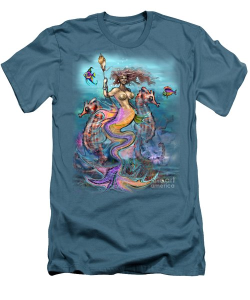 Men's T-Shirt (Slim Fit) featuring the painting Mermaid by Kevin Middleton