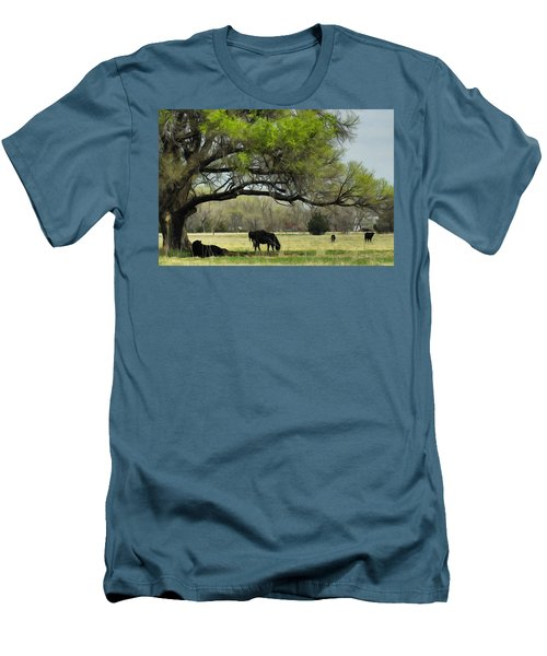Men's T-Shirt (Slim Fit) featuring the photograph Shady Rest by Bill Kesler