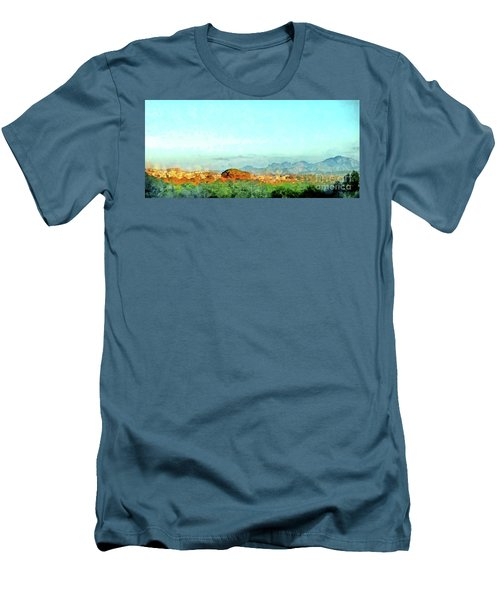 Arzachena Landscape With Mountains Men's T-Shirt (Athletic Fit)
