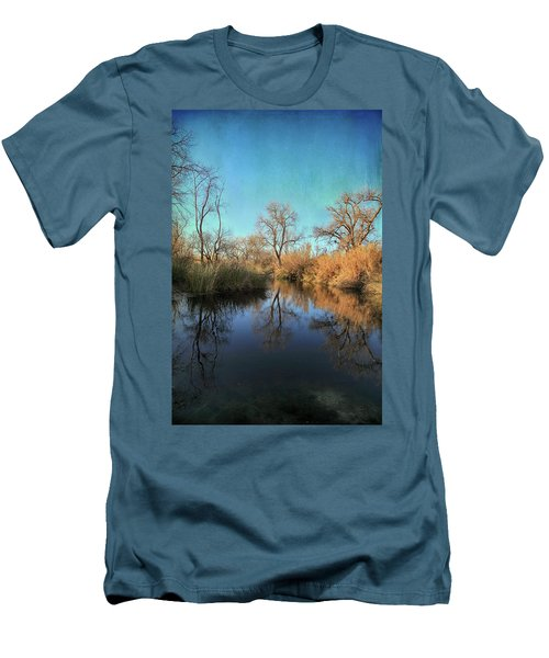 Men's T-Shirt (Slim Fit) featuring the photograph As We Taked About The Year by Laurie Search