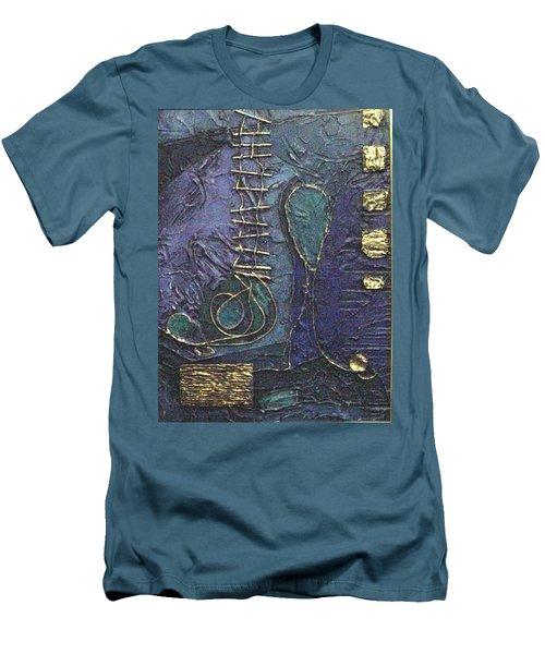 Men's T-Shirt (Slim Fit) featuring the painting Ascending Blue by Bernard Goodman