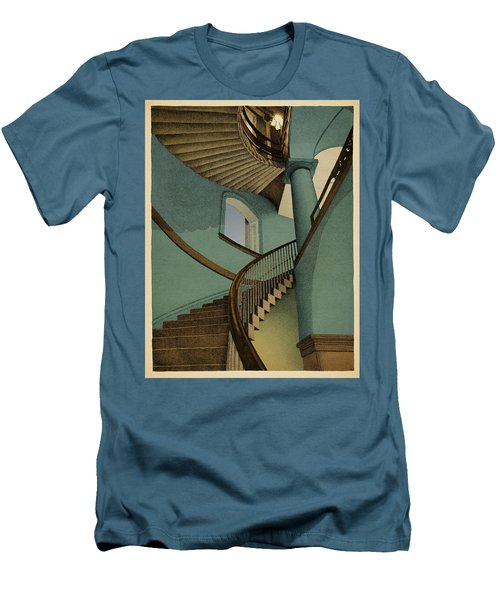 Men's T-Shirt (Slim Fit) featuring the drawing Ascending by Meg Shearer