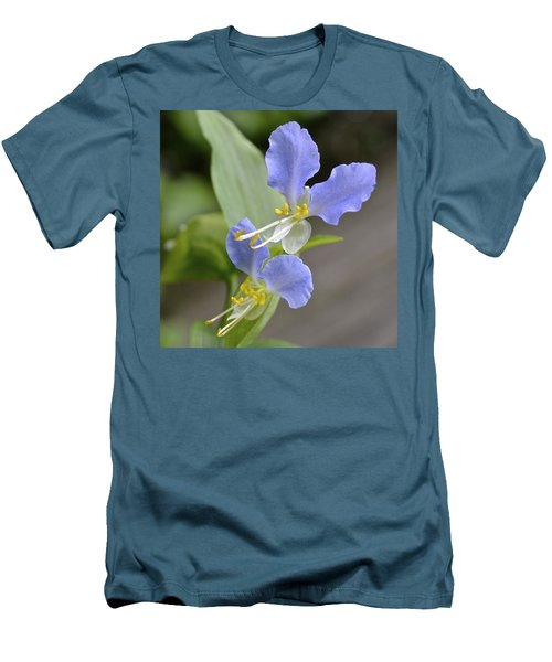 Virginia Dayflower Pair Men's T-Shirt (Athletic Fit)