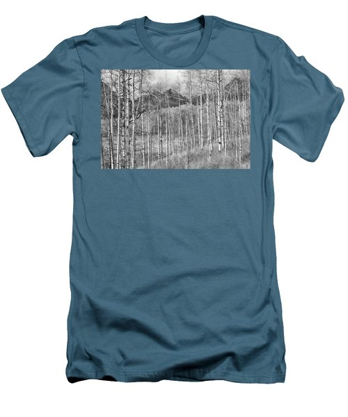 Men's T-Shirt (Slim Fit) featuring the photograph Aspen Ambience Monochrome by Eric Glaser