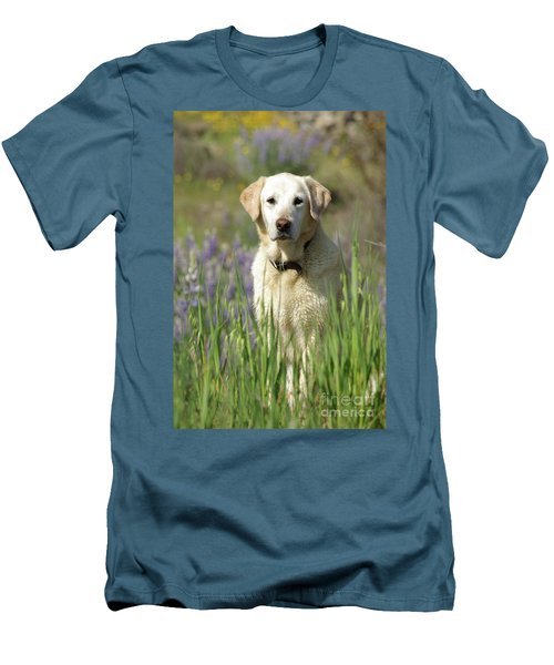 Men's T-Shirt (Slim Fit) featuring the photograph At Attention by Jim and Emily Bush