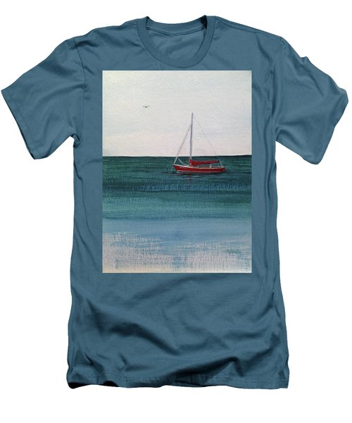 Men's T-Shirt (Slim Fit) featuring the painting At Rest by Wendy Shoults