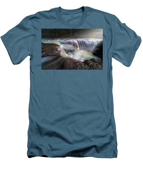 At The Top Of Lower Lewis River Falls Men's T-Shirt (Athletic Fit)