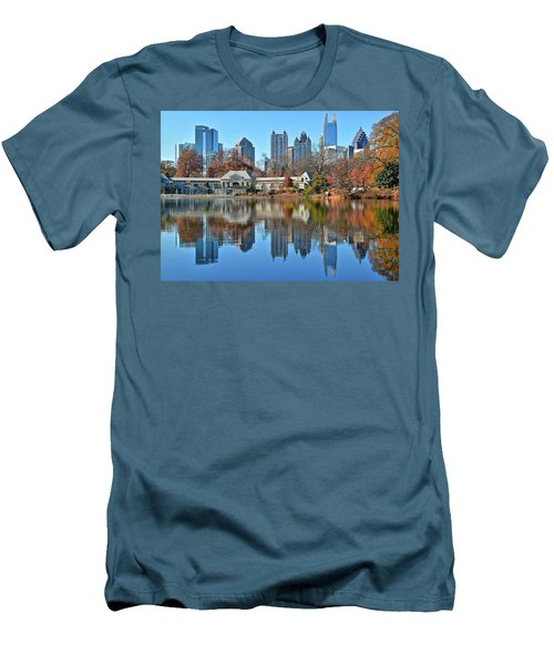 Atlanta Reflected Men's T-Shirt (Slim Fit) by Frozen in Time Fine Art Photography