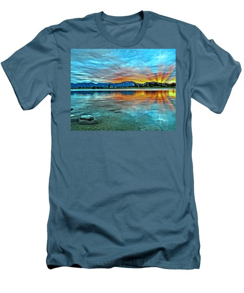 Men's T-Shirt (Slim Fit) featuring the photograph Atom  by Eric Dee