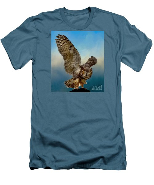 Men's T-Shirt (Slim Fit) featuring the photograph Attitude Is Everything by Myrna Bradshaw