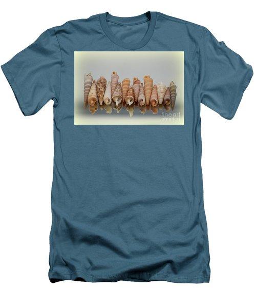 Auger Shells Men's T-Shirt (Slim Fit) by Patti Whitten