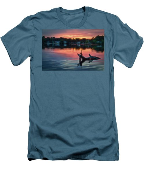 August Sunset Glow Men's T-Shirt (Athletic Fit)