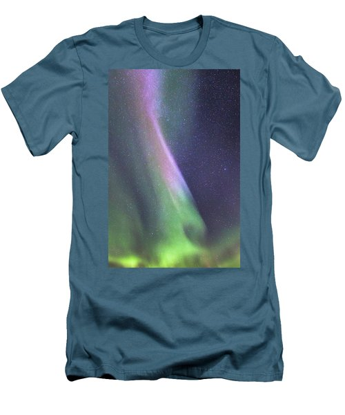 Men's T-Shirt (Slim Fit) featuring the photograph Aurora Abstract by Hitendra SINKAR