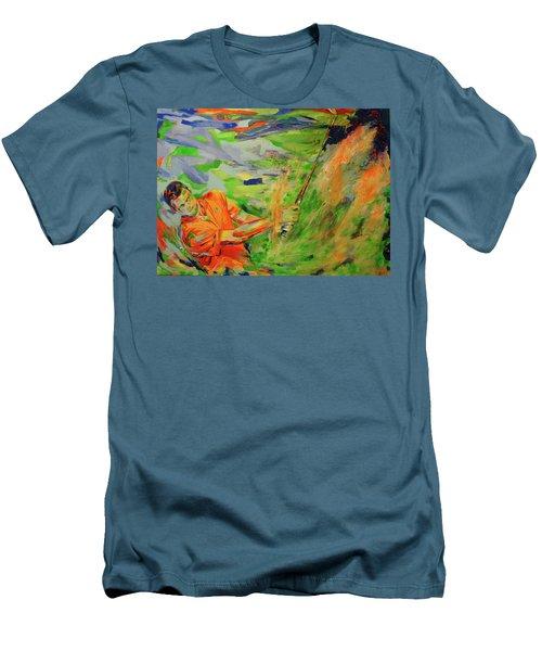 Aus Dem Bunker Spielen   Bunker Shot Men's T-Shirt (Slim Fit) by Koro Arandia