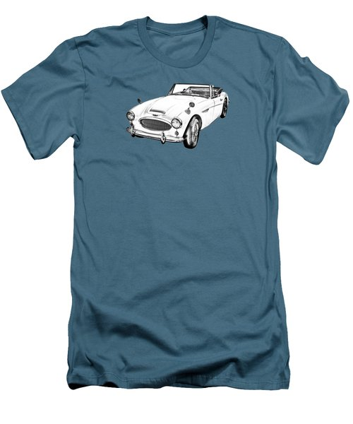 Austin Healey 300 Sports Car Drawing Men's T-Shirt (Slim Fit) by Keith Webber Jr