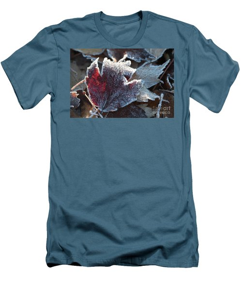 Men's T-Shirt (Athletic Fit) featuring the photograph Autumn Ends, Winter Begins 2 by Linda Lees