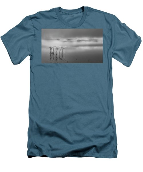 Men's T-Shirt (Slim Fit) featuring the photograph Autumn Fog Black And White by Bill Wakeley