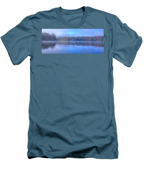 Men's T-Shirt (Athletic Fit) featuring the photograph Autumn Fog Lifting by David Patterson