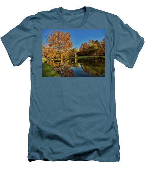Autumn In West Virginia Men's T-Shirt (Slim Fit) by L O C