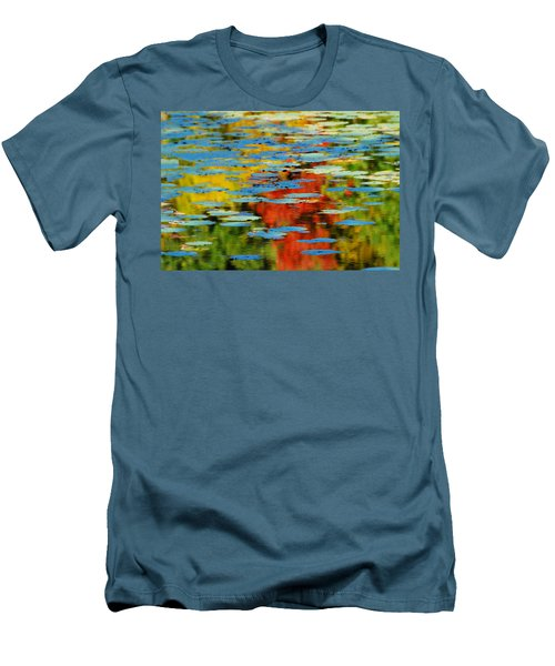 Men's T-Shirt (Slim Fit) featuring the photograph Autumn Lily Pads by Diana Angstadt